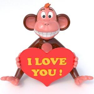 3d model of monkey love