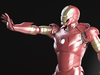 3d iron man rigged