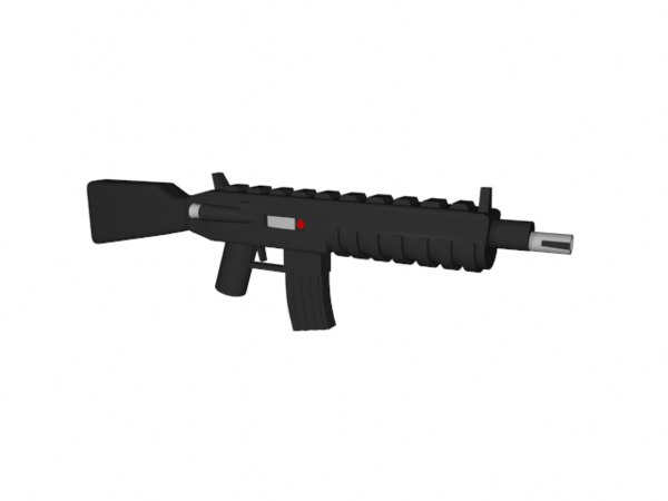 3d 3ds lego m4 rifle