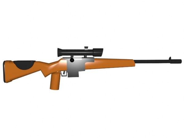 lego bolt sniper fr1 3d model