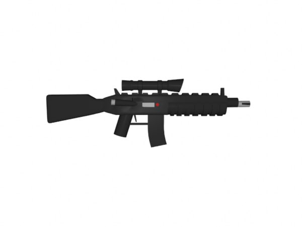 3ds lego m4 rifle scope
