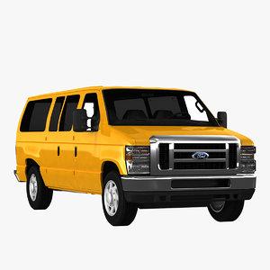 3d model econoline wagon