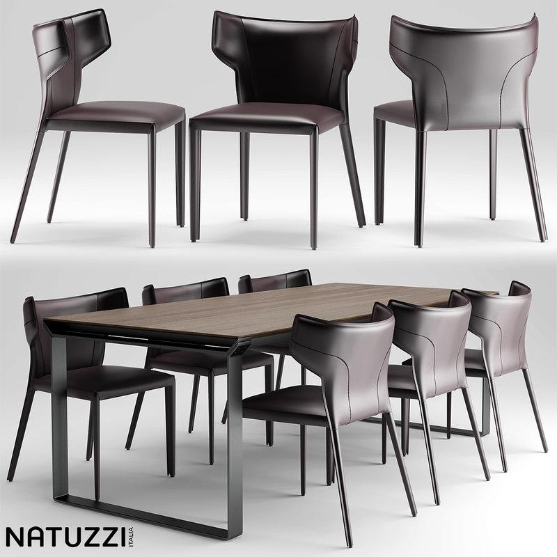 3d model of table natuzzi pi