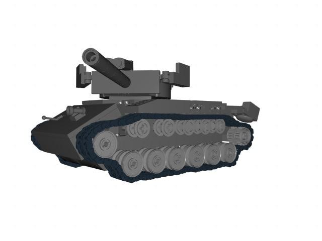 3d lego tank model