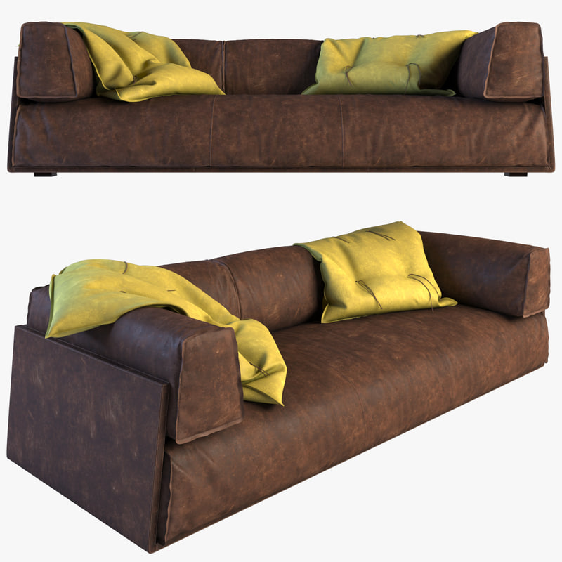 baxter sofa hard soft 3d max