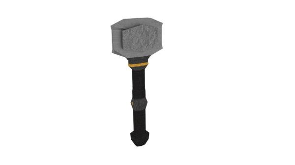 3d hammer fantasy hand model