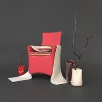 arm chair artie 3d max