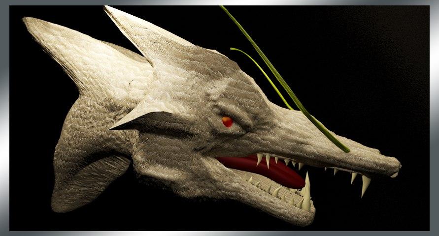 3ds dragon head