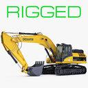 Rigged Crawler Excavator Generic