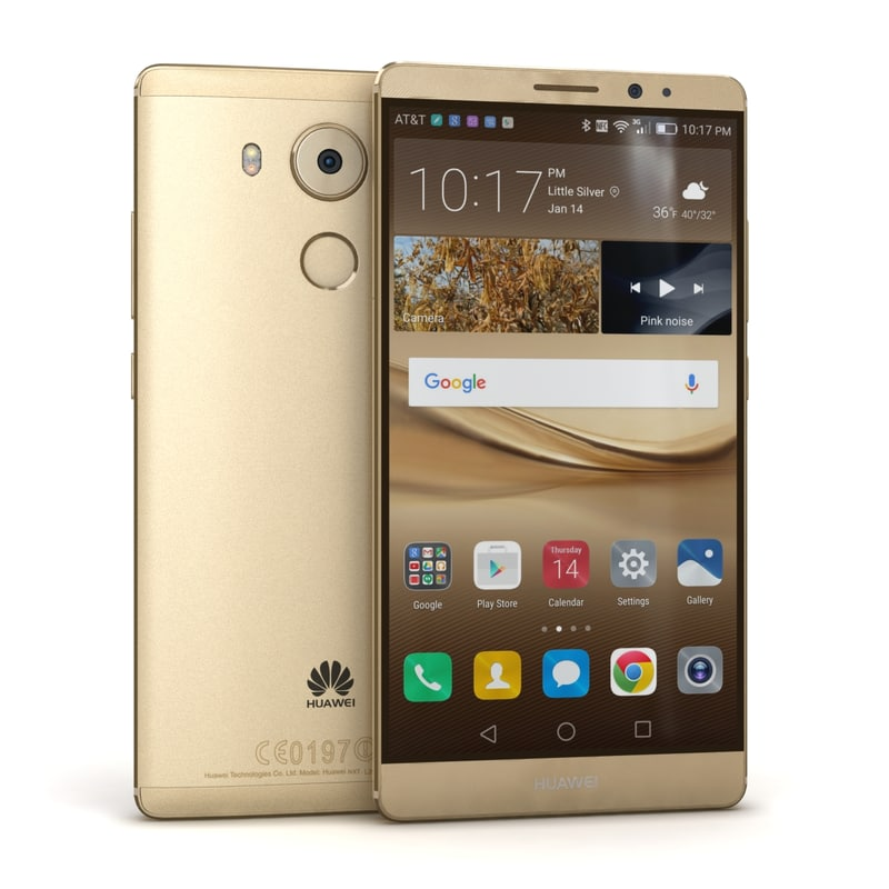 3d model huawei mate 8 champagne