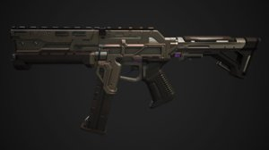 3d smg games ready - model