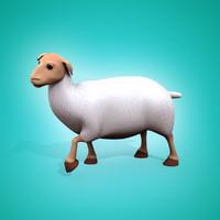 cartoon sheep 3d max