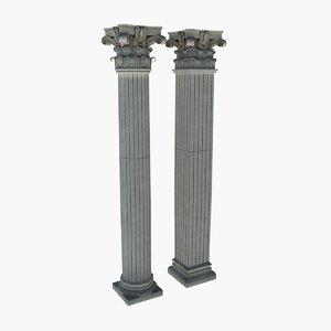 3d roman pillar model