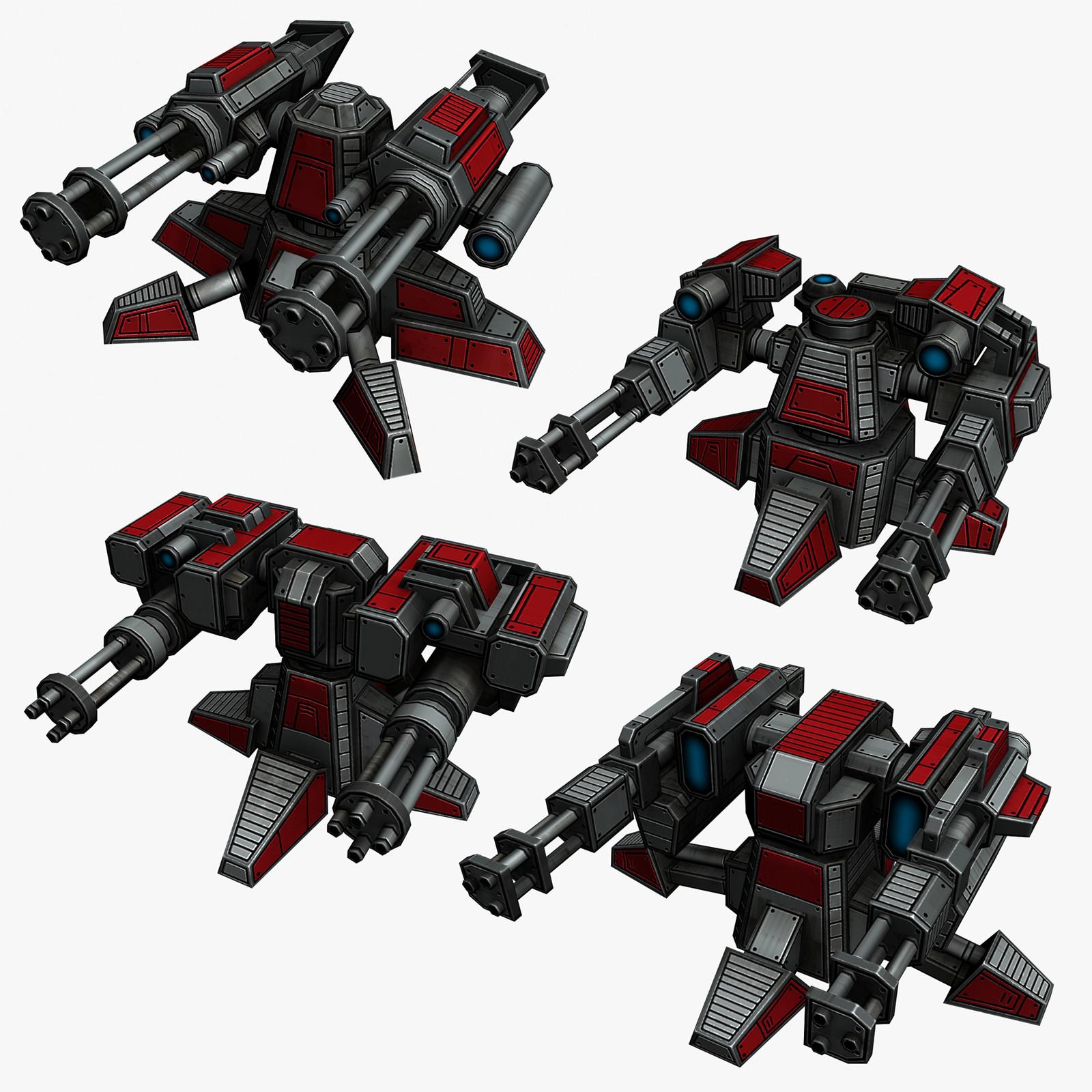 4 sci-fi mini guns max