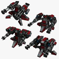 4 Sci-Fi Mini Guns