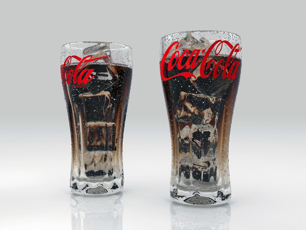 different glasses coca-cola ice max