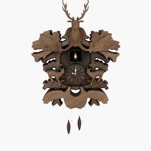 cuckoo clock 3d model