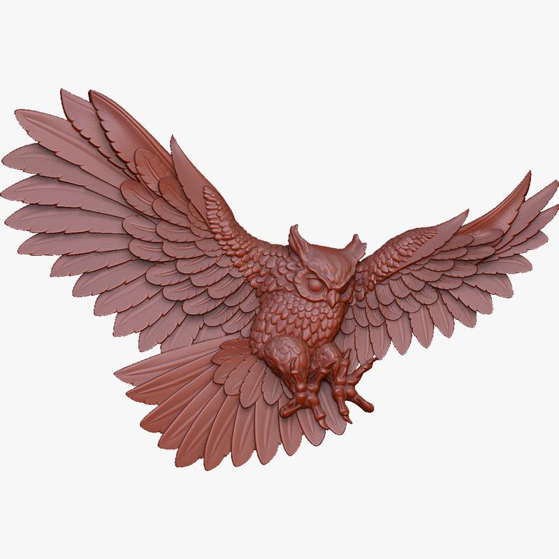 owl 3d model