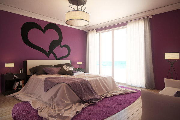 3d romantic bedroom -