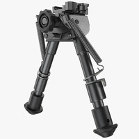 sniper rifle bipod 3d model