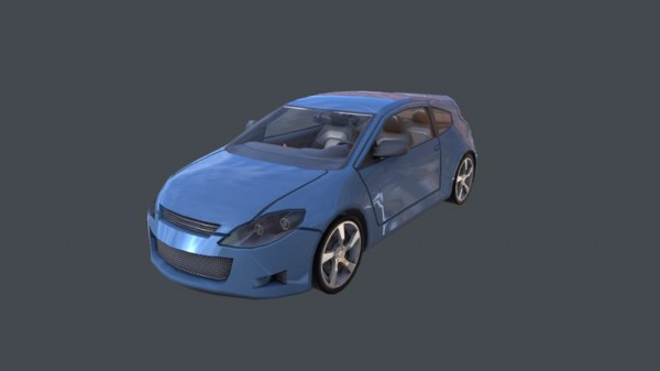fantastic race car 3d model