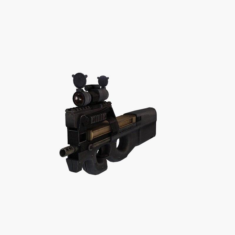 3d gun fn p90