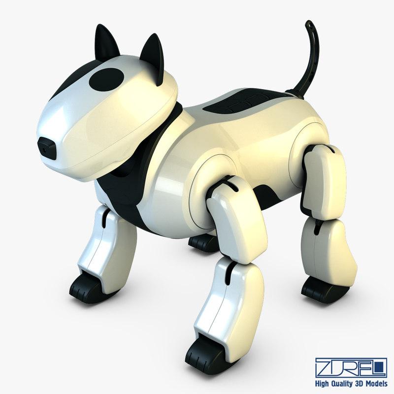 3d model genibo robot dog white