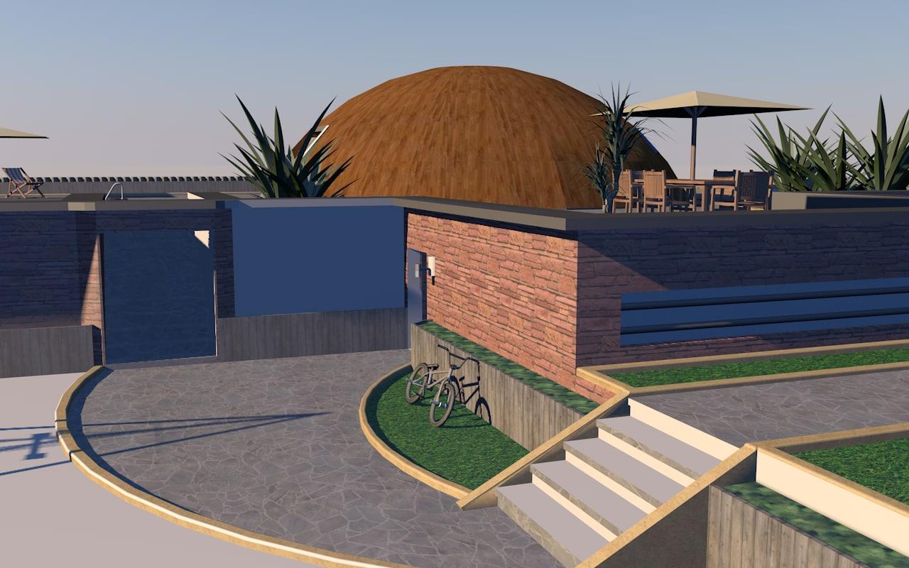 house modern 3d 3ds