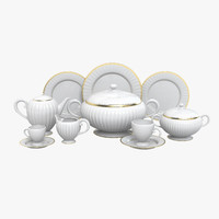 dinner porcelain set 3d model