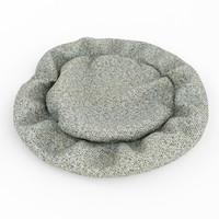 3d carpet dog model