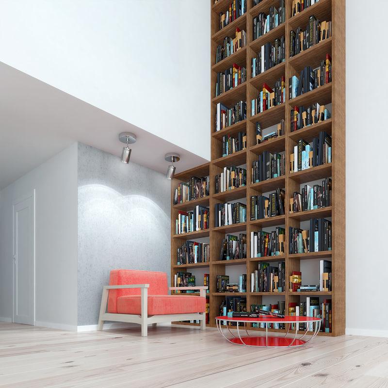 loft interior scene 3ds