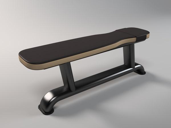 3d model bench bodybuilding