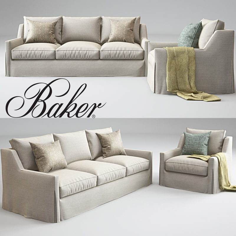 3d model tiburon lounge chair sofa