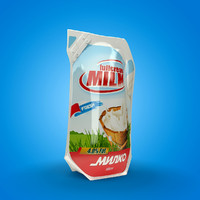 milk ecolean pack 3d model