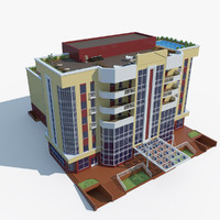 residential terraced house 3d model
