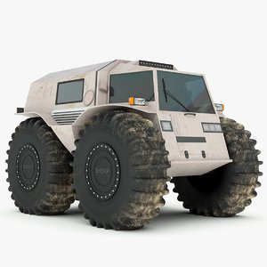 3d model russian sherp atv