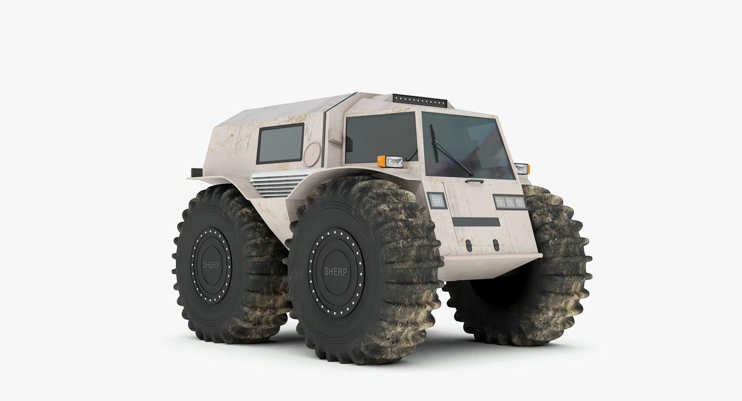 3d model russian sherp atv