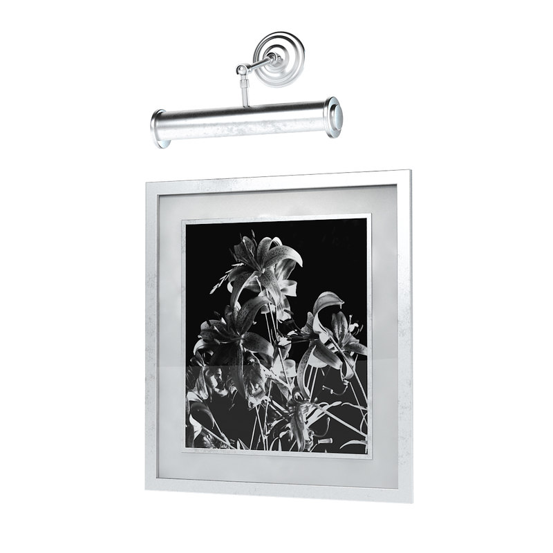 3d picture light wall model