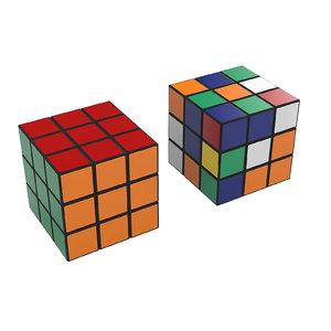 3d rubic cube model