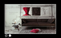 3d model scene interior living room