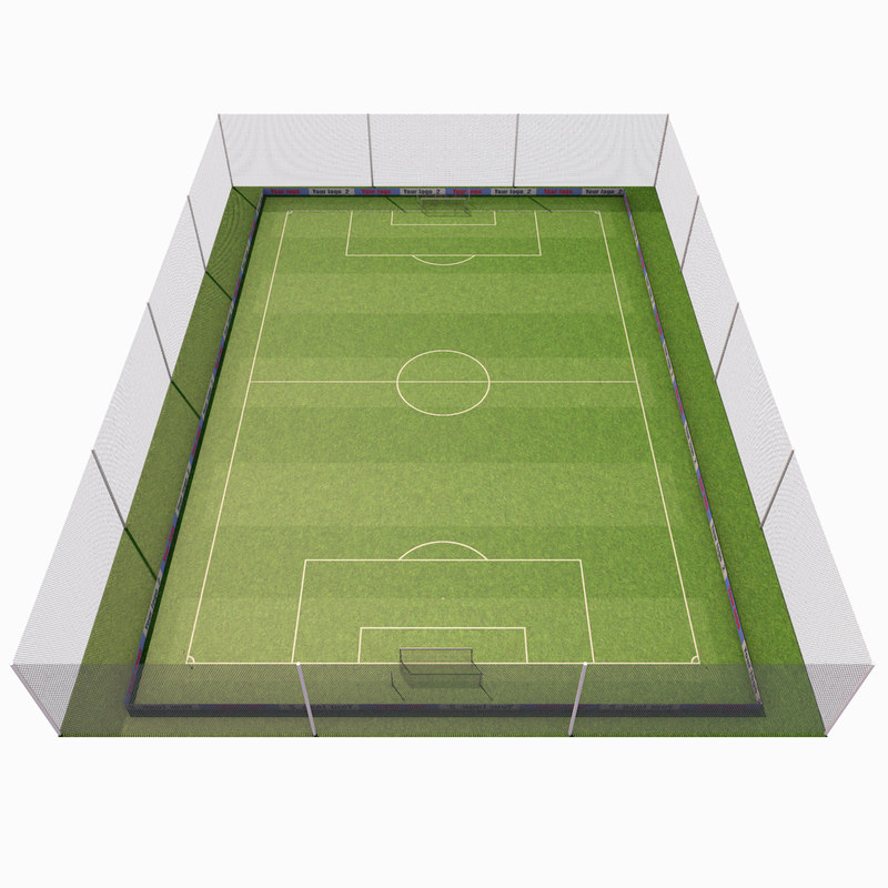 3d training football field model