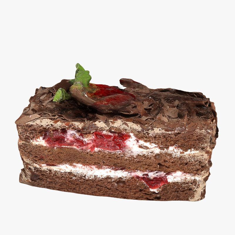 3d model cake chocolate