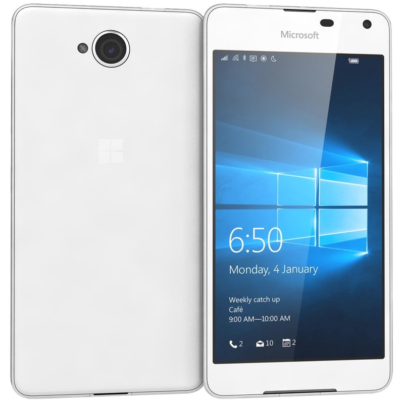 microsoft lumia 650 white 3d model