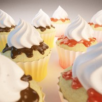 Coco cupcake and strawbery cupcake