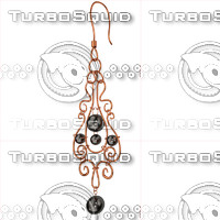 ring earrings 3ds