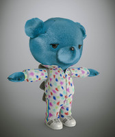 bear cartoon 3d model