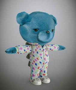 bear cartoon 3d model