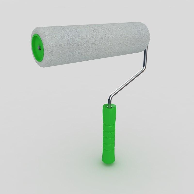 3d paint roller brush