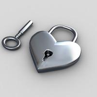 heart lock 3d max