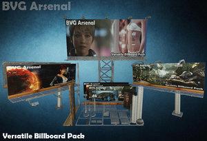 3d versatile billboard pack model